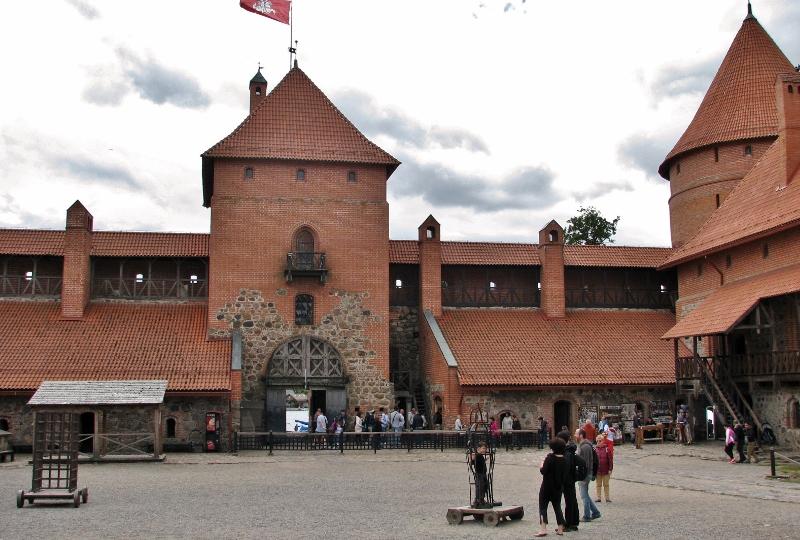 Litauen_Wasserburg_Trakai_Innenhof